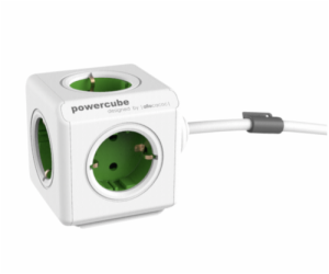 allocacoc PowerCube Extended incl. 1,5 m Cable green Type F