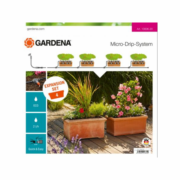 Gardena Micro-Drip-System extension set plant trough