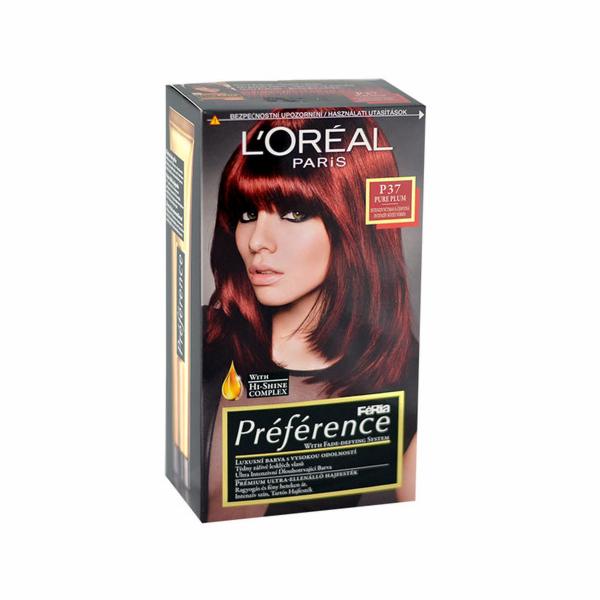 Barva na vlasy L´Oréal Paris Préférence Féria Hair Colour 1ks P37 Pure Plum