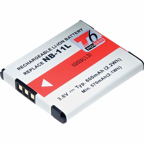 Baterie T6 power Canon NB-11L, 600mAh, šedá