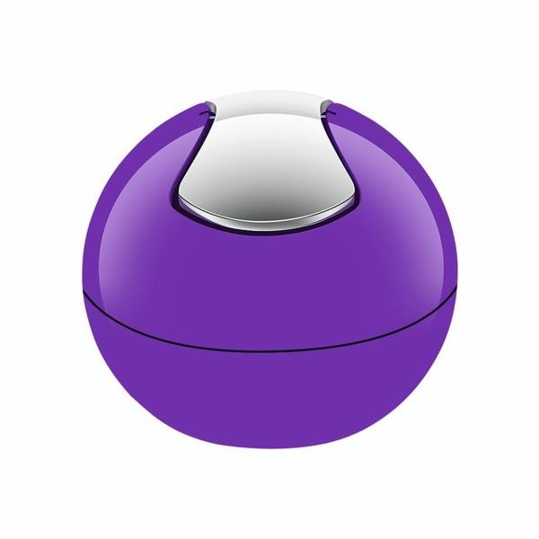 Odpadkový koš BOWL purple