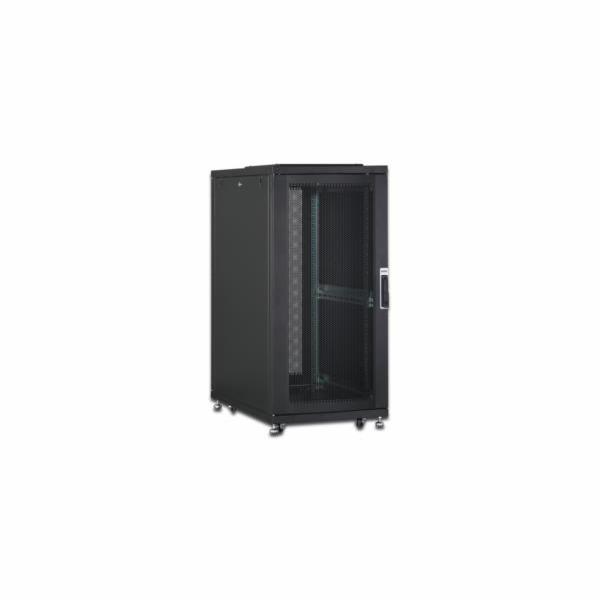 DIGITUS 26U server cabinet, 1260x600x1000 mm, color black RAL 9005 perforated door