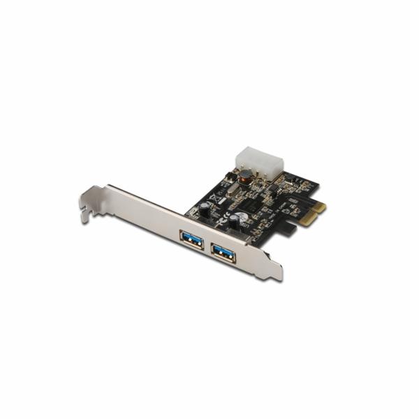 Digitus USB PCI Express přídavná karta USB3.0, 2 porty A / F, 1x držák LP, NEC UPD720202