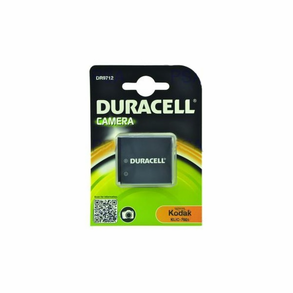 DURACELL Baterie - DR9712 pro Kodak KLIC-7001, černá, 700 mAh, 3.7V