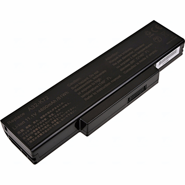 Baterie T6 power Asus K72, K73, A72, A73, N71, N73, X72, X73, X77, 6cell, 4600mAh