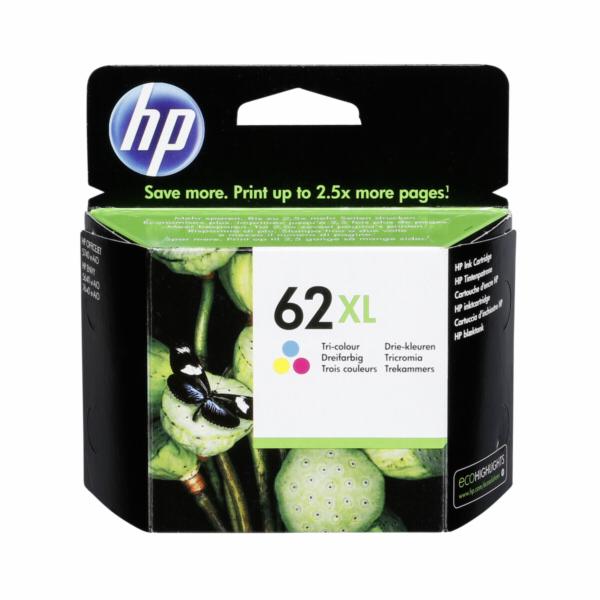 HP C2P07AE ink cartridge 3-farbig No. 62 XL