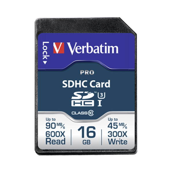 Verbatim SDHC Card Pro 16GB Class 10 UHS-I