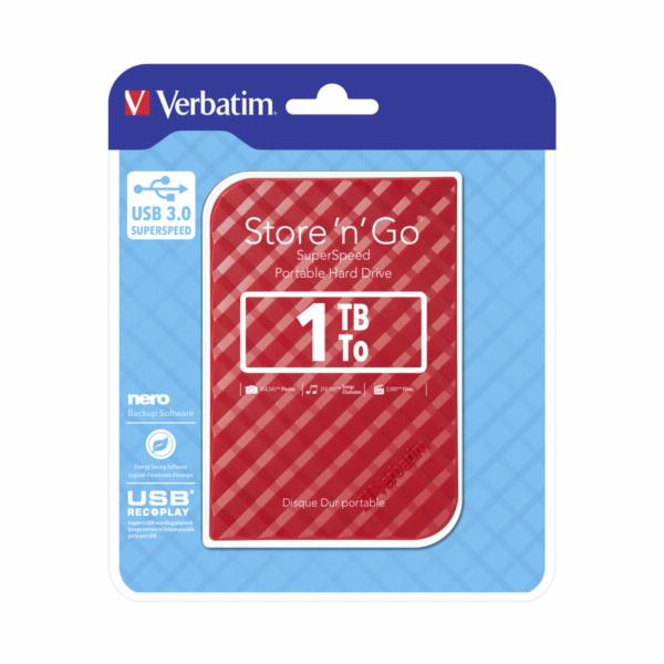 Verbatim Store n Go 2,5 1TB USB 3.0 cervena Gen 2