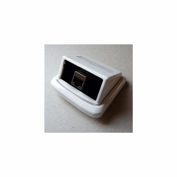 Jednozásuvka ABB TANGO 1xRJ45 cat6A STP bílá