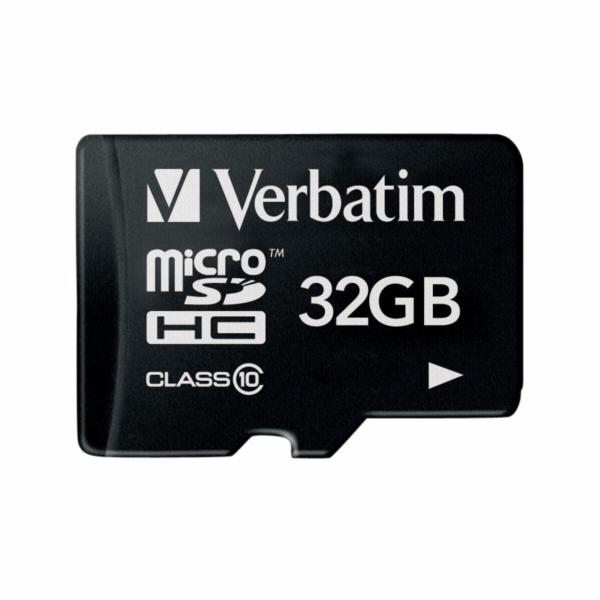 Paměťová karta Verbatim MicroSDHC 32GB Class 10