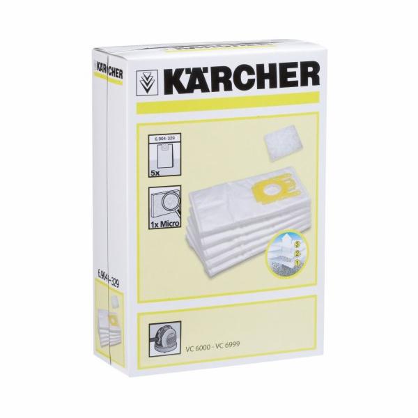 Sáček do vysavače Kärcher 6.904-329, 5ks netkaný