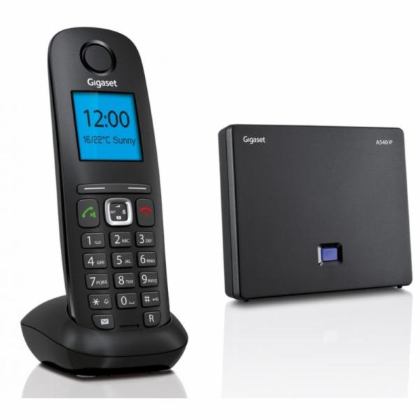 SIEMENS Gigaset A540 IP Black - bezdrátový IP telefon