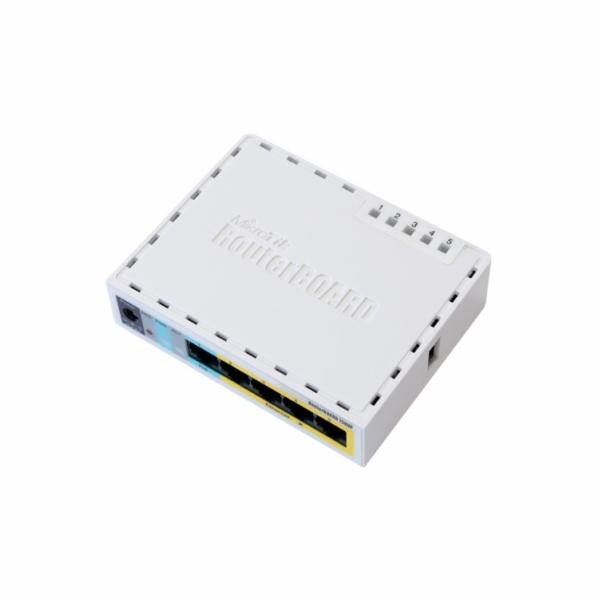 MikroTik RouterBOARD hEX PoE Lite, 650MHz CPU, 64MB RAM, 5x LAN, USB, PoE, 1x USB, vč. L4 licence