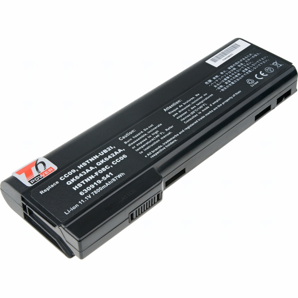 Baterie T6 power HP ProBook 6360b, 6460b, 6470b, 6560b, 6570b, 8460, 8470, 8560, 8cell, 7800mAh