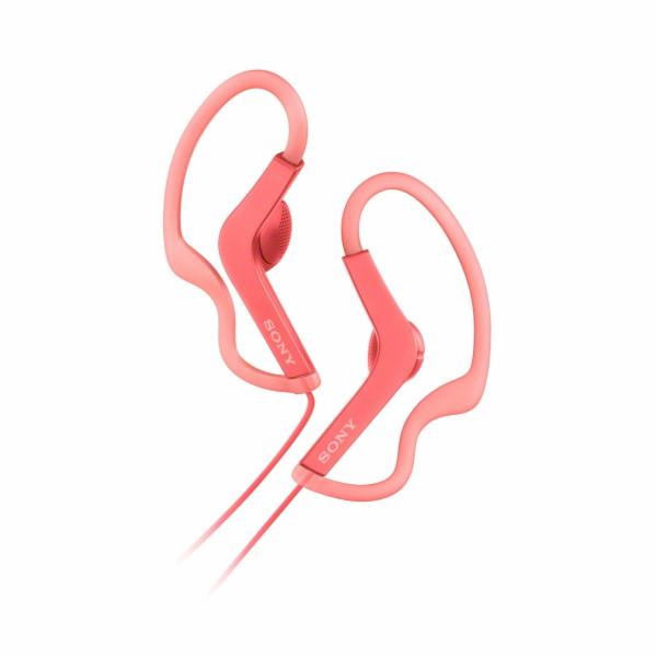 SONY MDR-AS210AP Sportovní sluchátka s klipem + ovladač pro telefon - Pink