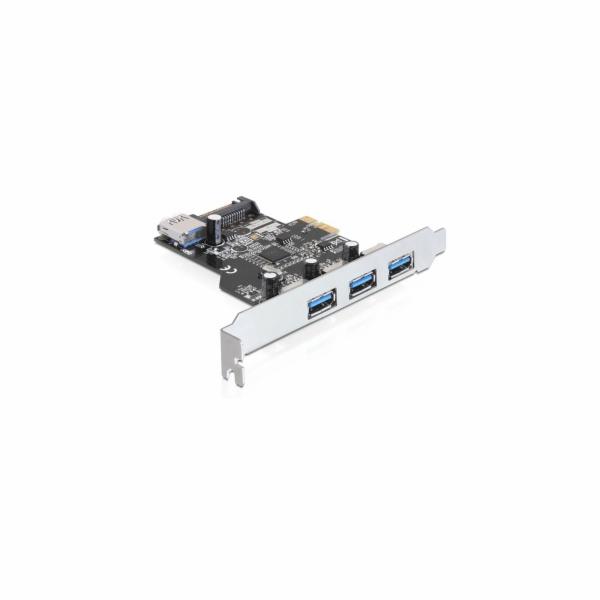 Delock PCI Express karta > 3 x externí + 1 x interní USB 3.0