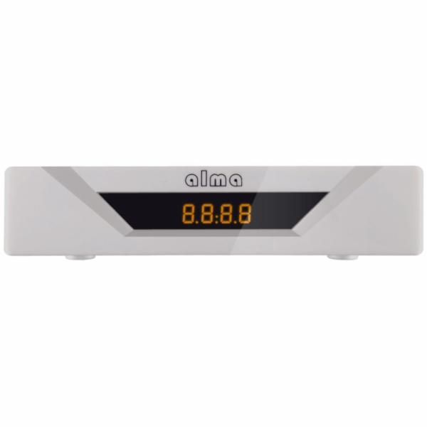 ALMA DVB-T2 HD přijímač 2781 s displejem/ Full HD/ USB/ SCART/ bílý