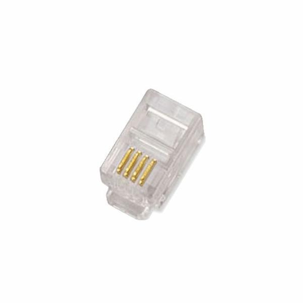 Plug 4p4c - RJ10,pack(100ks)