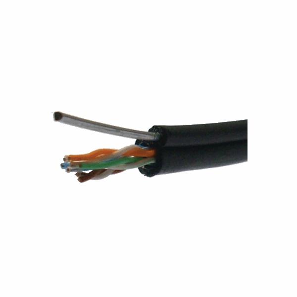DATACOM UTP drát Cat5e 305m samonosný OUTDOOR blk