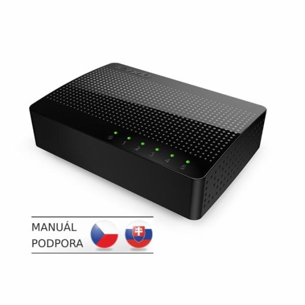 Tenda SG105 - 5x Gigabit Desktop Ethernet Switch