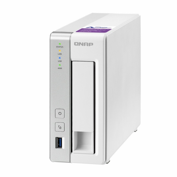 QNAP TS-131P Turbo NAS server, 1,7 GHz DC/1GB DDR3/1x HDD/1xGL/USB 3.0/iSCSI