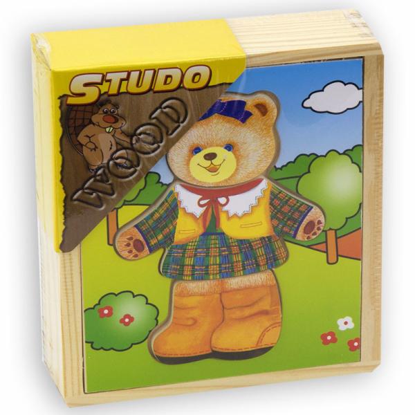Šatní skříň - medvědí slečna dřevěná