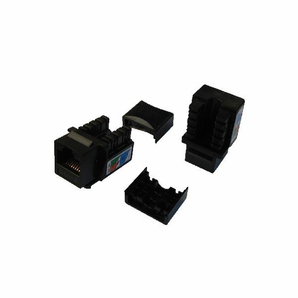 DATACOM Keystone UTP Cat5e samozářezový černý