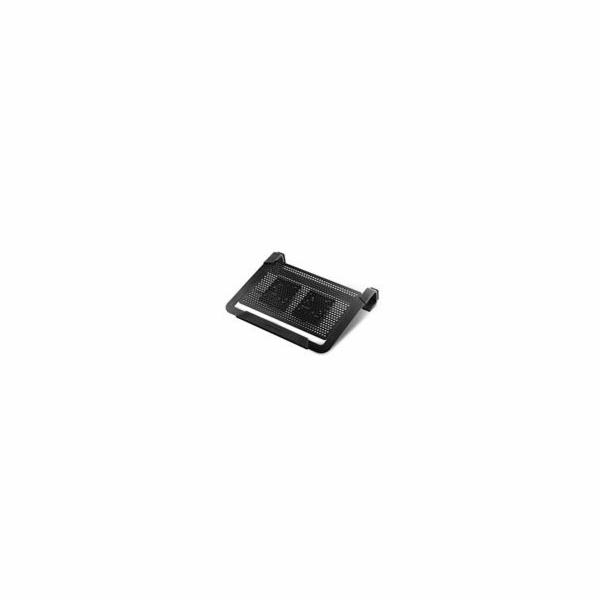"chladiaci podstavec Coolermaster NotePal U2 PLUS pre notebooky 12-17"" čierny, 2x8cm ventilátor"