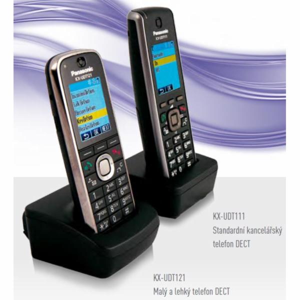 Panasonic KX-UDT121CE, vícebuňkové SIP DECT sluchátko
