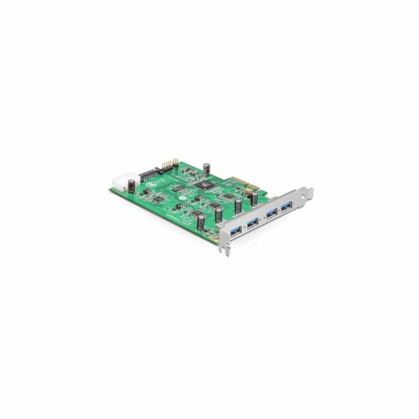 PCI Express Karte x4 > 4 x extern USB-A 3.2 Gen 1 (Quad Channel), USB-Controller