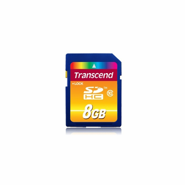 Paměťová karta TRANSCEND 8GB SDHC CARD (SD 3.0 SPD Class 10) memory card