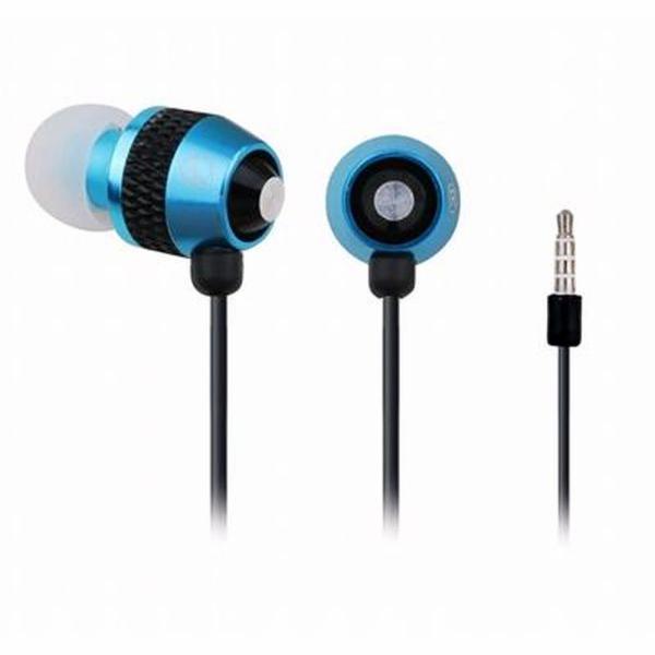 Sluchátka GEMBIRD MHS-EP-002 pro MP3, kovová s mikrofonem