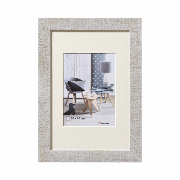 Walther Home 30x40 Wooden Frame light grey HO040X
