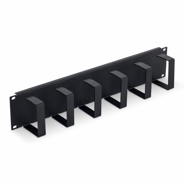 "19"" vyvazovací panel 2U 6x háček 70x85mmb black"