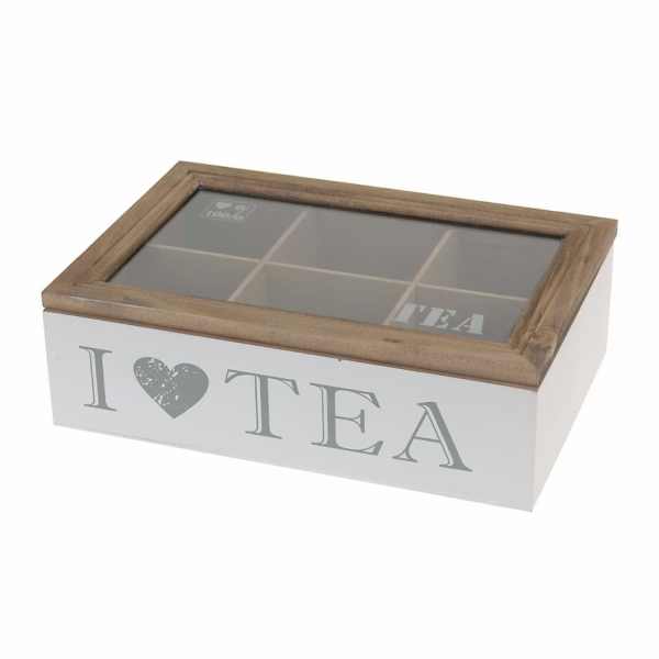 box 23x15,5x7 dřevo/UH na čaj.sáčky LOVE TEA