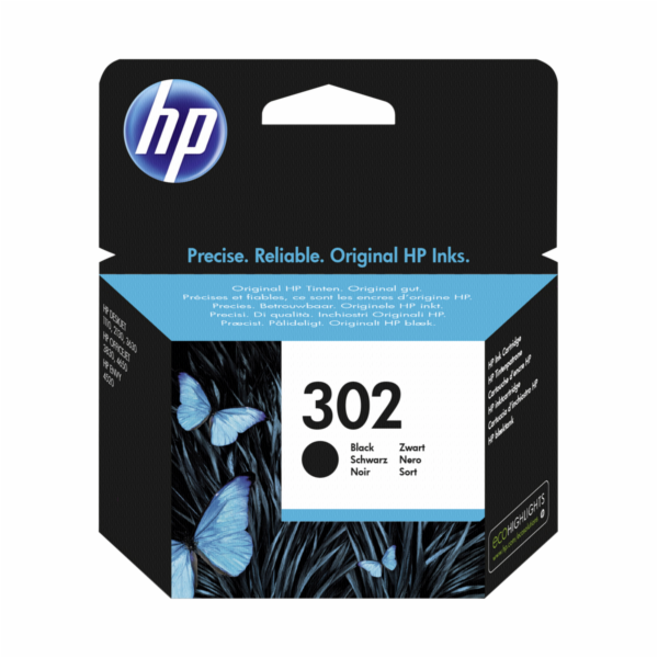 HP F6U66AE ink cartridge black No. 302