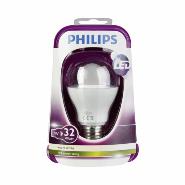 Žárovka Philips LED E27 8W, teple bílá