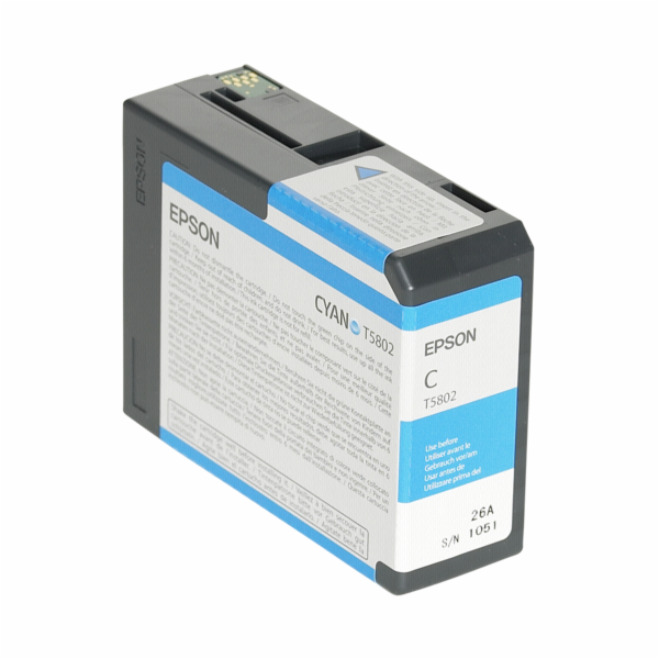 Epson ink cartridge cyan T 580 80 ml T 5802