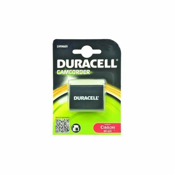 DURACELL Baterie - DR9689 pro Canon BP-808, černá, 850 mAh, 7.4V