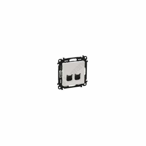 Valena LIFE 2-zásuvka dat. LCS RJ45 Cat.6A bílá