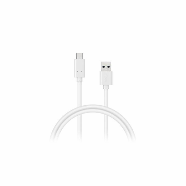 CONNECT IT Wirez USB C (Type C) - USB, tok proudu až 3A !, bílý, 1 m