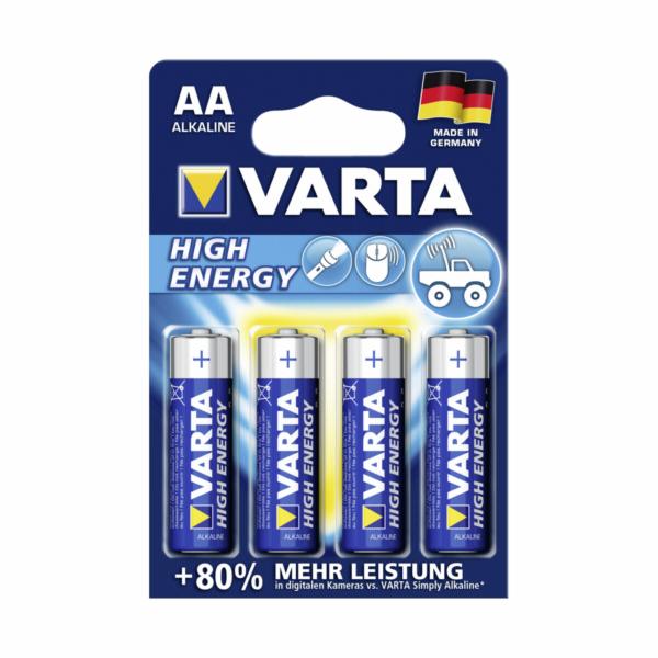 1x4 Varta High Energy Mignon AA LR 6 German