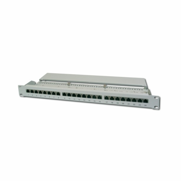 "Digitus Patch Panel 19"", CAT6 EA, 8P8C, LSA, 1U, 24 x RJ45, stíněný, šedý"