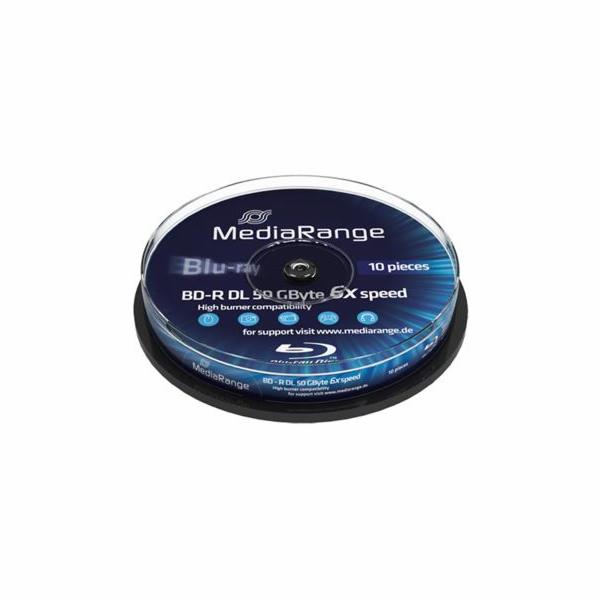 MEDIARANGE BD-R BLU-RAY 50GB 6x DoubleLayer spindl 10pck/bal