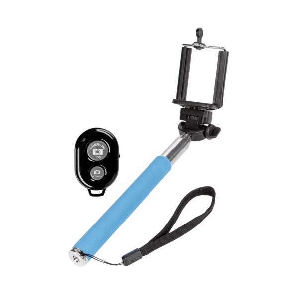 Monopod Selfie Stick modra s bluetooth dalkove ovladani
