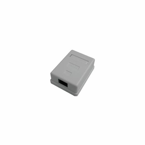 DATACOM Datová zásuvka UTP CAT5E 1xRJ45 na omítku bílá