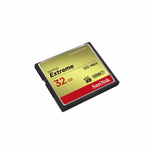 SanDisk CF 32 GB Extreme (120/85 MB/s, VPG20, UDMA7)