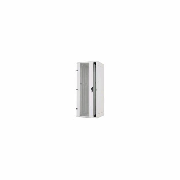 """TRITON 19"""" stojanový rozvaděč 42U/800x1000, přední a zadní dveře 80% síto, boční kryty plech, RAL7035 - šedá"""