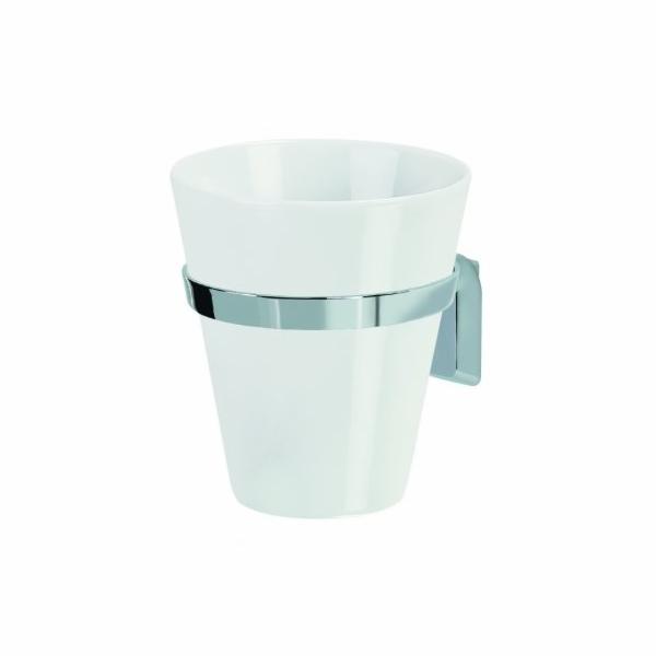 Kelímek s držákem MAX-LIGHT porcelán/chrom