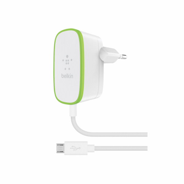 Belkin Line Adapter white 2,4 A with fix Micro-USB Cable 1,8m